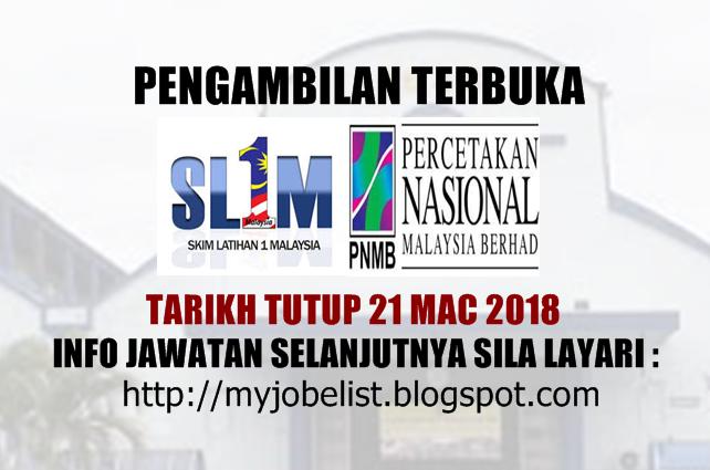 Skim Latihan 1Malaysia (SL1M) di Percetakan Nasional