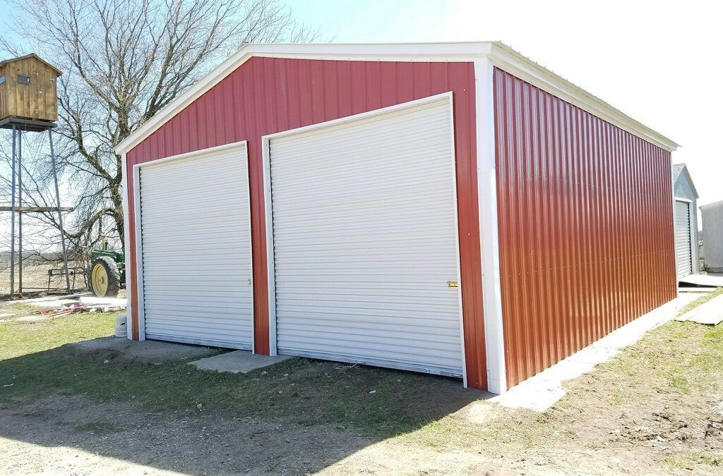 Check out the Red Metal Garage installed in Fremont