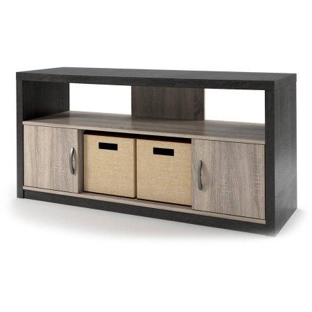 Altra Winlen 55 Inch Tv Stand With 2 Bins Carmen Oaknatural Oak