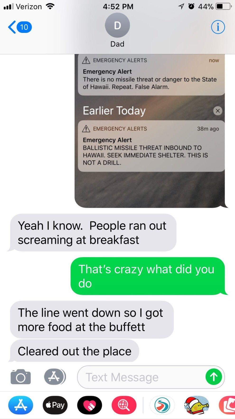 This dad taking advantage of a false alarm: