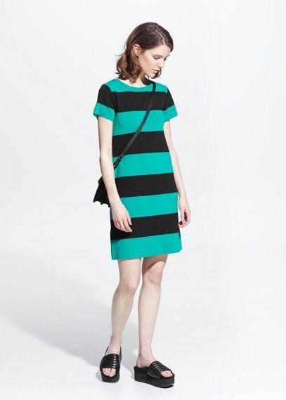 premium selection 5054e 5ed10 Vestito maglia righe | ispirazioni | Vestiti, Vestito nero e ...