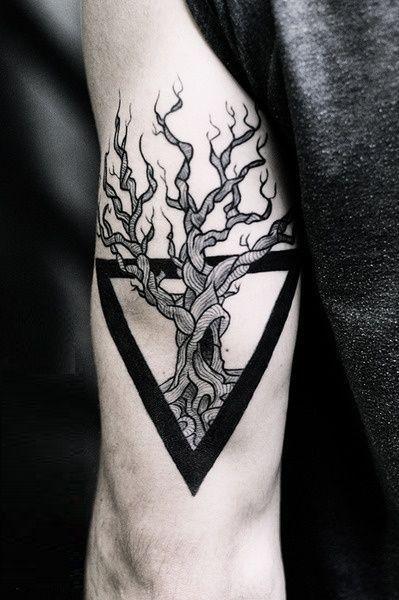 73 Awesome Geometric Tattoo Designs Triangle Tattoos Geometric Tattoo Inspiration Geometric Tattoo