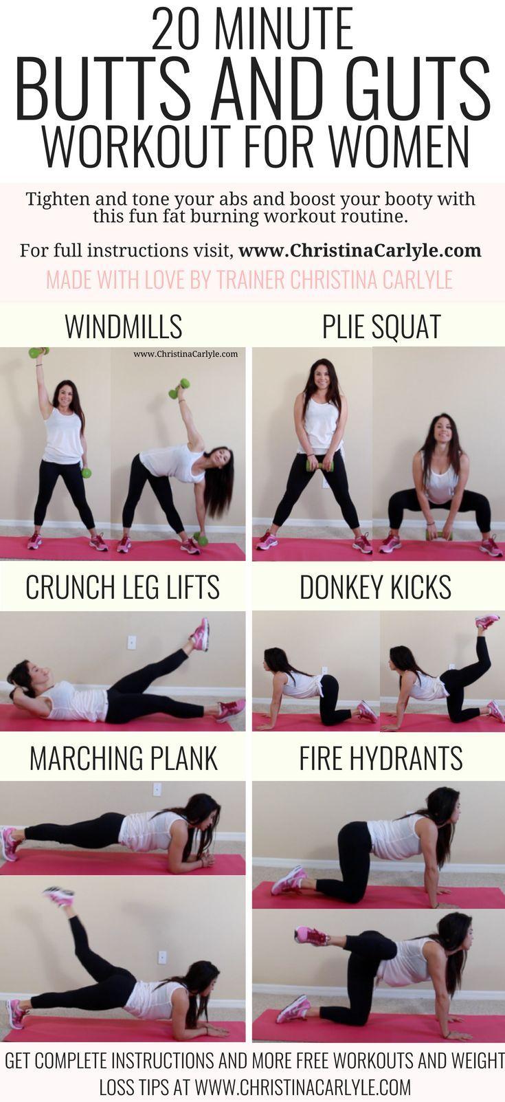 Booty Og Ab Workout rutine for A Bigger Butt og flad-1712