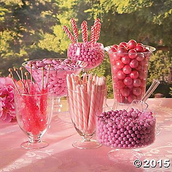 Creating A Sweet Display For Your Event Is Simple With This Pink Candy Buffet Idea