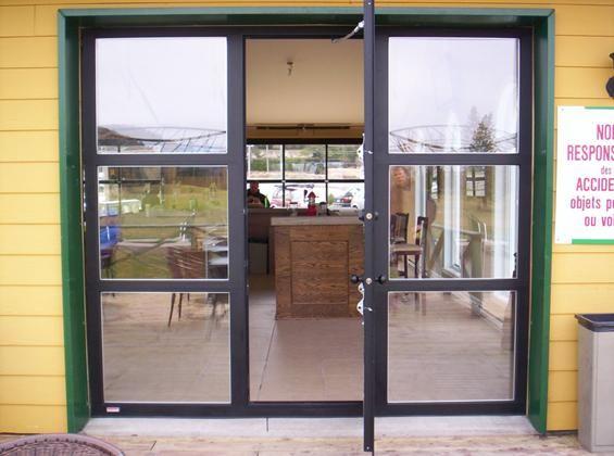 Glass Garage Door With Pedestrian Walk Through Door Jpr Inc