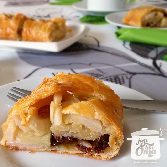 Omas german apple strudel recipe recipe apple strudel a super easy version of the german apple strudel recipe using frozen butter puff pastry forumfinder Images