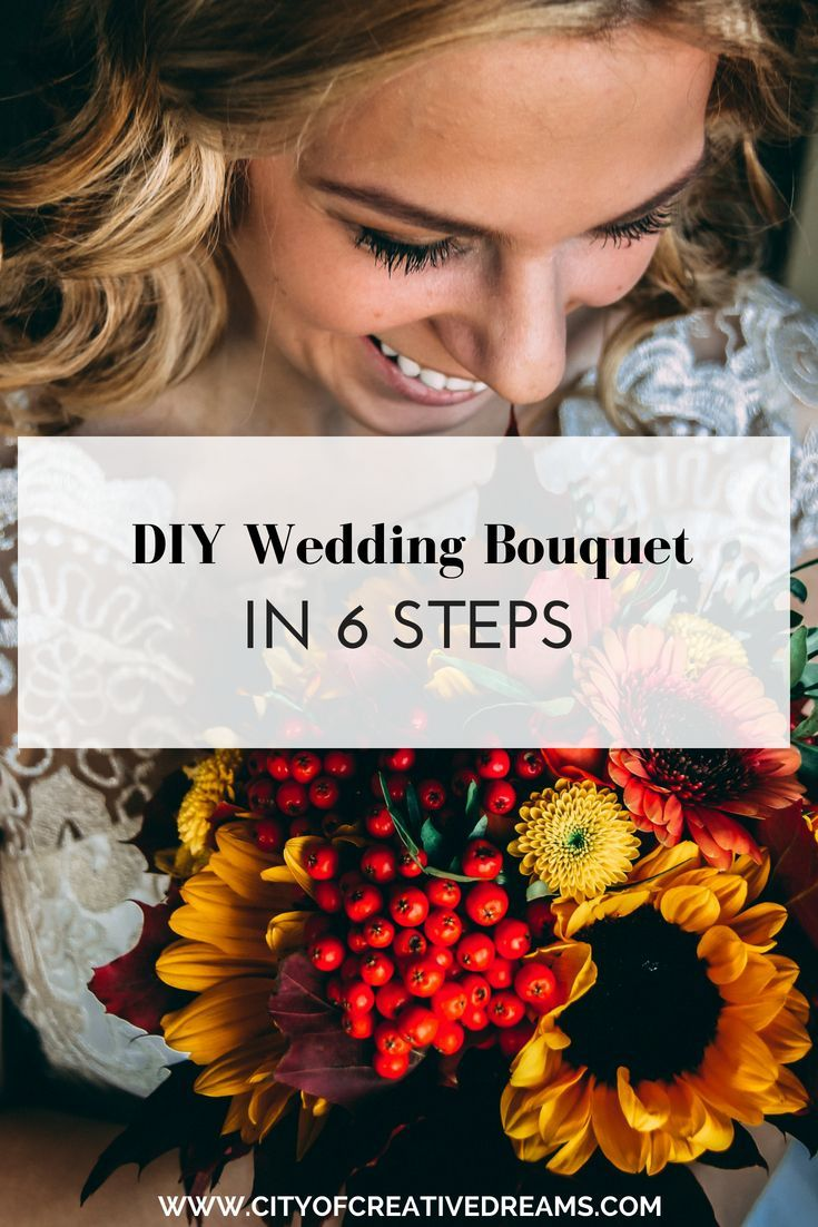 DIY Wedding Bouquet in 6 Steps | City of Creative Dreams wedding bouquets summer, wedding bouquets fall, wedding bouquets diy, wedding bouquets spring #fantasticweddingbouquets
