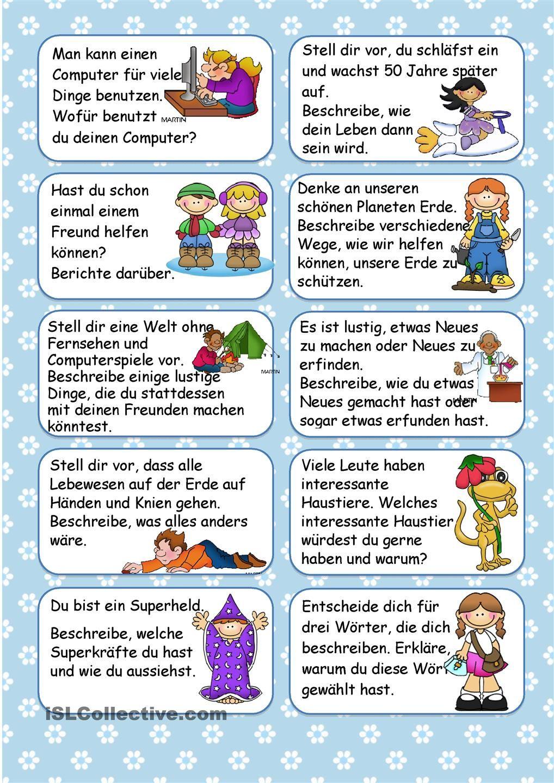 20 Schreibideen für April   Deutsch   Pinterest   Deutsch, Schule ...