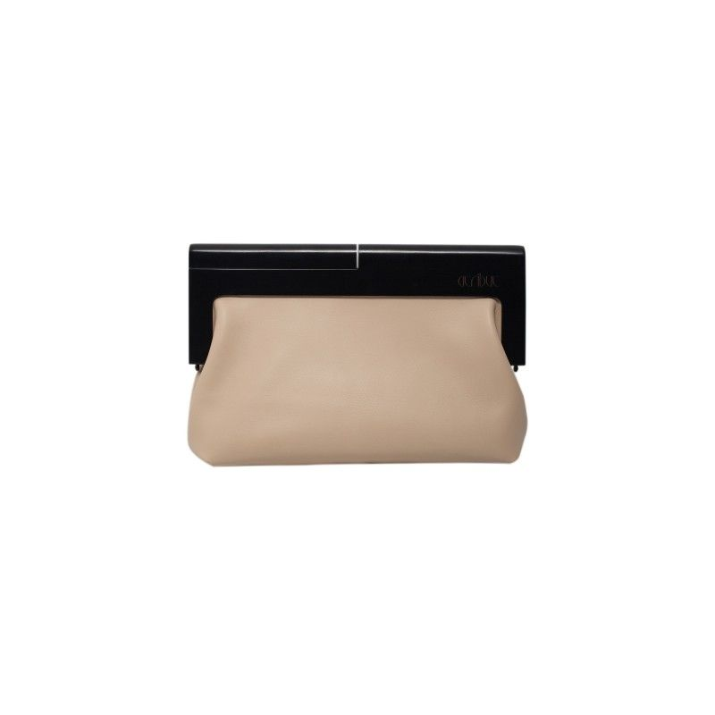e180b0fd1069 From IAMTHELAB.com  Beige And Black Leather Clutch  Bags