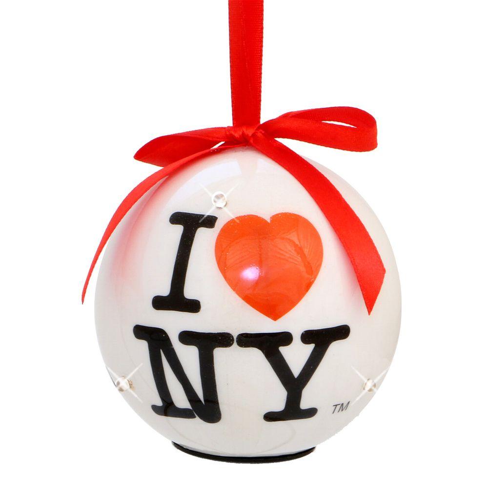 Light-Up I Love NY Ornament | New York Christmas Ornaments ...