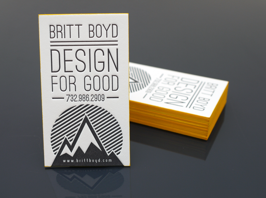 Britt Boyd  Letterpress Business Cards  Card  Invitation