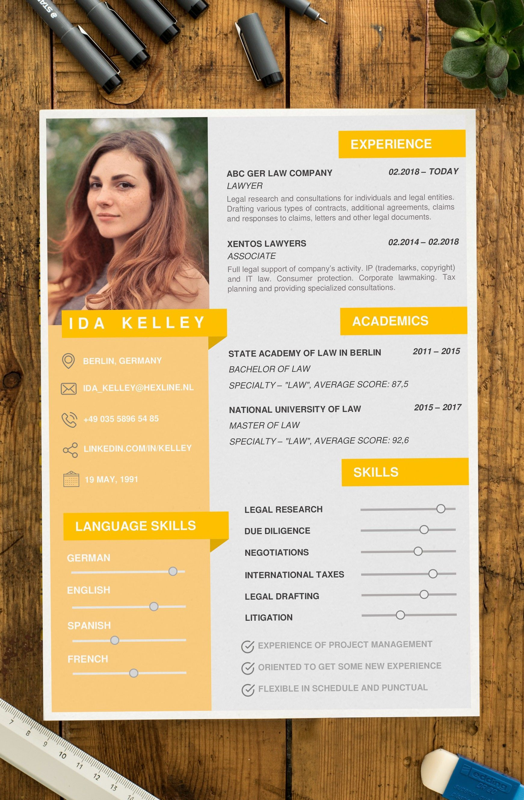 Ida Resume Cv Template For Word With Cover Letter In 2021 Cv Design Creative Cv Design Template Free Resume Design Creative