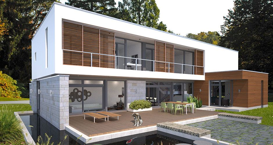 evoDOMUS ultra modern prefabricated homes Custom designed energy  efficient prefab Home