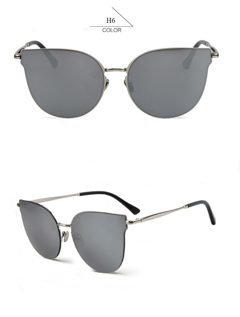 08695eca1d4 BOUTIQUE Woman Alloy Cat Eye Frame Sun Glasses Men Flat Top Sunglasses High  Quality H1670