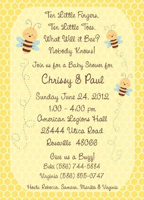 Bumble bee baby shower invitation amyscustomgreetings one bumble bee baby shower invitation amyscustomgreetings filmwisefo