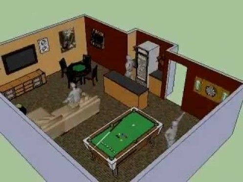 Much More Realistic For A City Living Basement Man Cave Plans Man Cave Shed Man Cave Basement