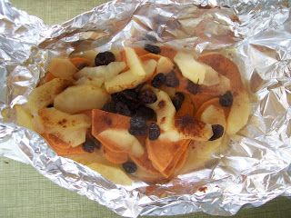 Shelly's Cranberry Apple Sweet Potato Packets