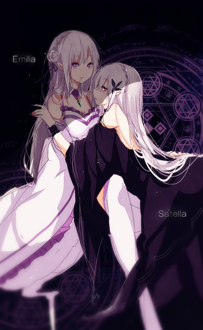 Emilia and Satella | Re:Zero ‒Starting Life in Another World‒