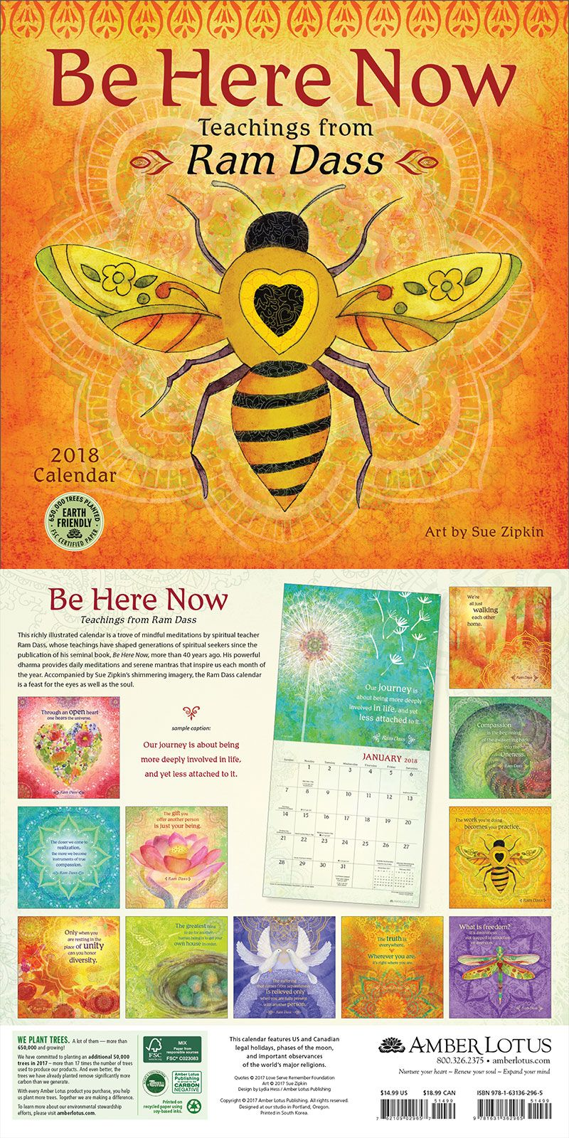 Be Here Now 2019 Wall Calendar
