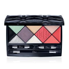 This graphic makeup palette—containing a mattifying skin corrector, rosy blush, black eyeliner, plus two pale shimmering eye shadows and the perfect no-makeup pink lipstick—cuts through the clutter of an overstuffed makeup bag. Dior Kingdom of Colors Palette, $80, dior.com - Photo: Courtesy of Dior