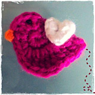 crochet bird applique free pattern