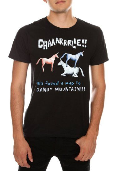 85ad3a92 Amazon.com: Charlie The Unicorn Candy Mountain Map T-Shirt: Clothing ...
