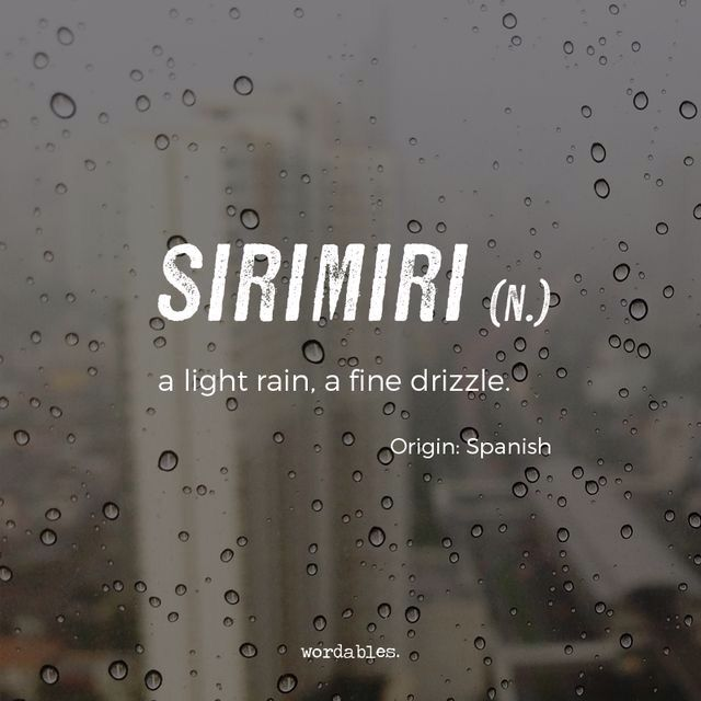 Sirimiri Wordables Weird Words Unusual Words Uncommon Words