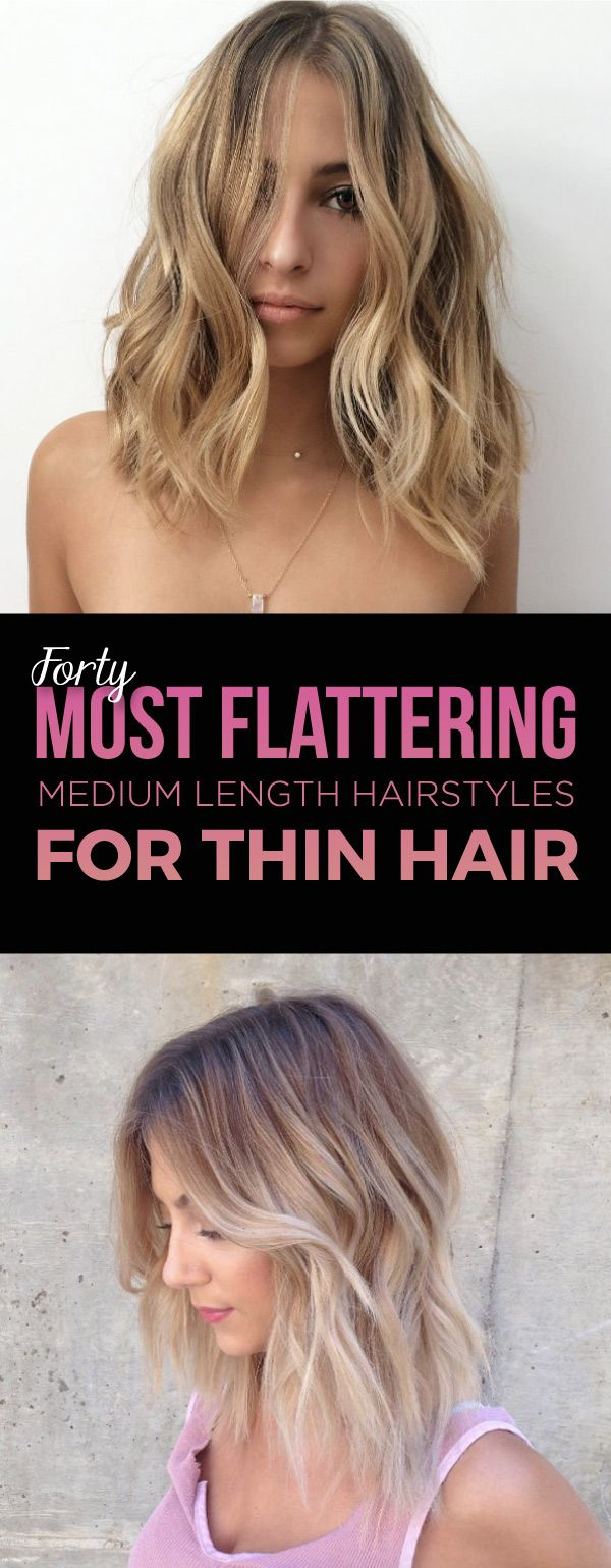 most flattering medium length hairstyles for thin hair