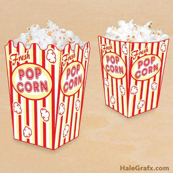 picture regarding Popcorn Box Printable referred to as Absolutely free Printable Popcorn Box ( Free of charge Printable Lists ) Absolutely free