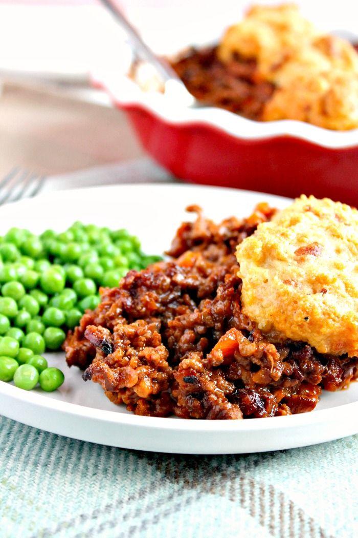 Minced Beef Cobbler Recipe Minced Beef Recipes Beef Recipes