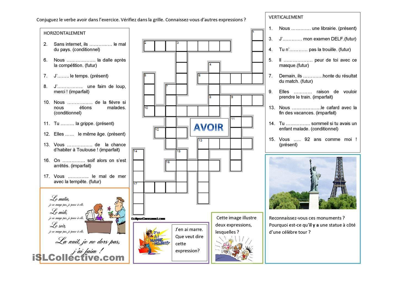 Avoir: Conjugaisons et expressions   Conjugaison ...