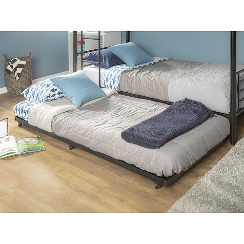 Best Walker Edison Twin Bunk Bed Roll Out Trundle Bed Frame 400 x 300