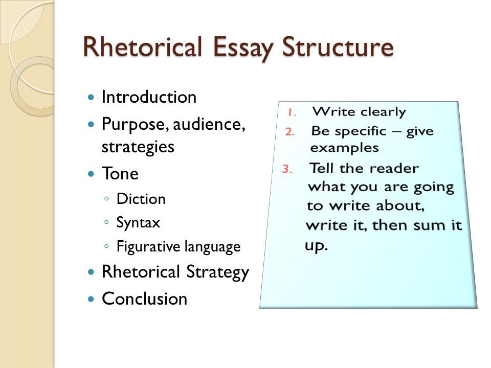 Rhetorical strategies essay