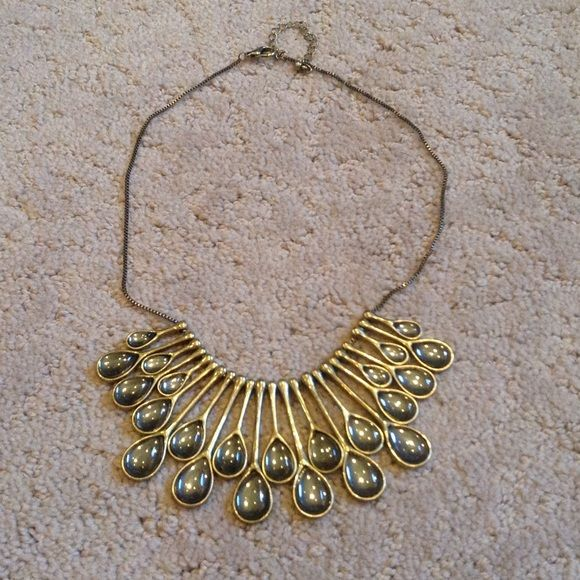 Teardrop bib necklace Pixley teardrop bib necklace Pixley Jewelry Necklaces
