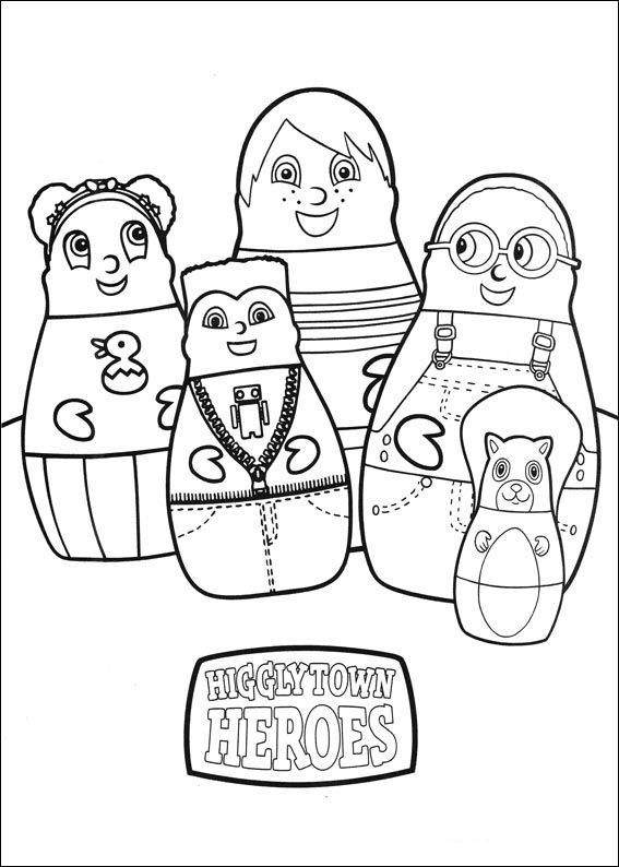 Higglytown heroes Coloring pages for kids Printable Online