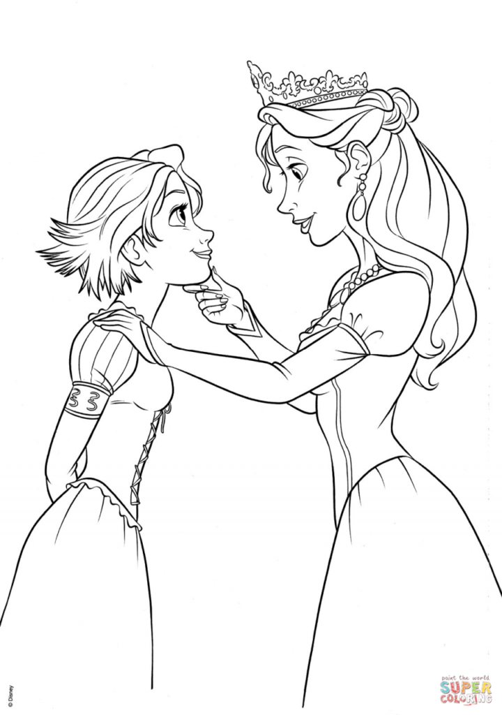Disney Rapunzel Coloring Pages Love Tangled Coloring Pages Rapunzel Coloring Pages Disney Coloring Pages