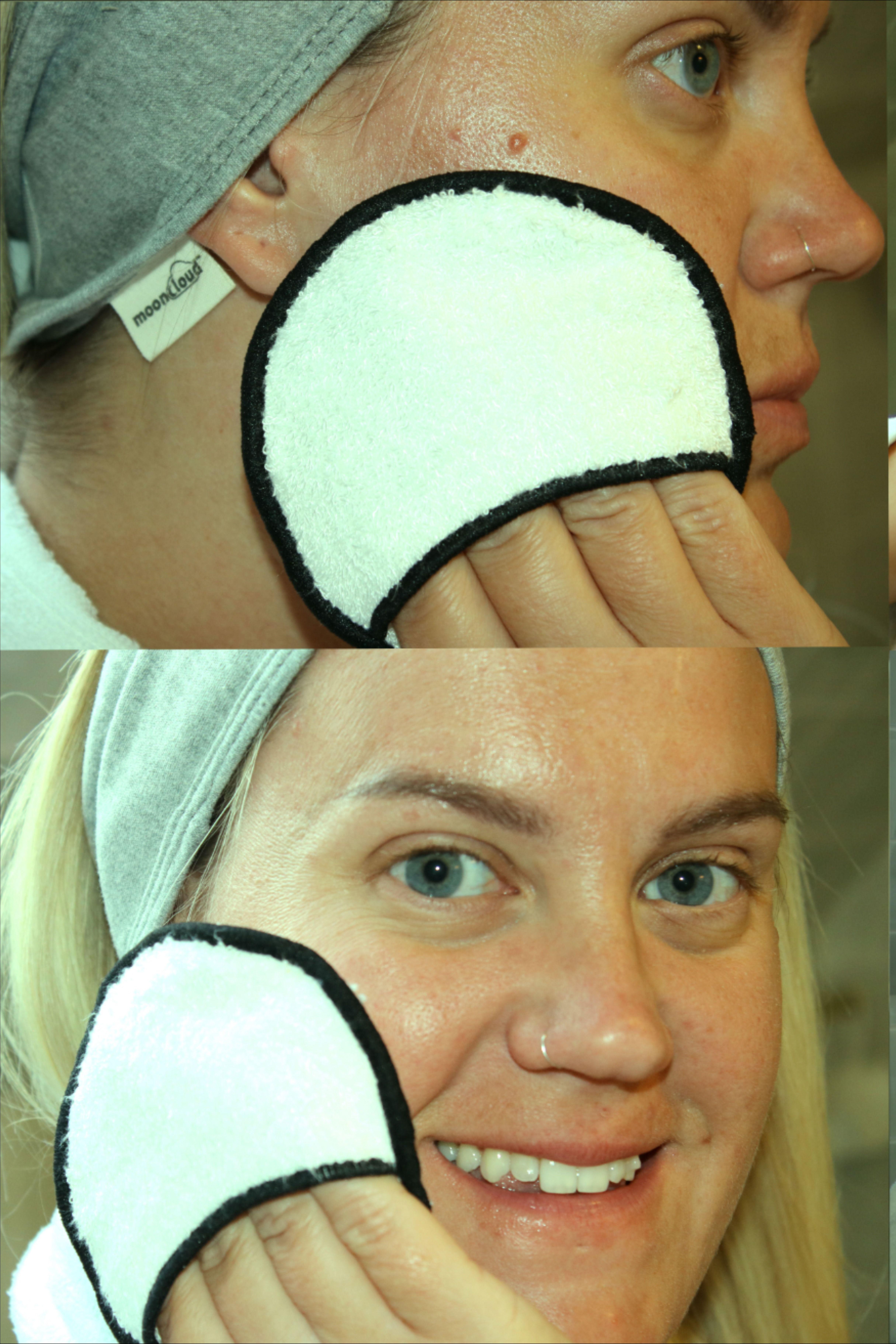 Reusable Makeup Remover Pads With Organic Spa Headband And