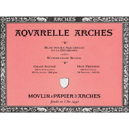 Arches Watercolor Paper 90 140 Sheets Have Excellent Tooth
