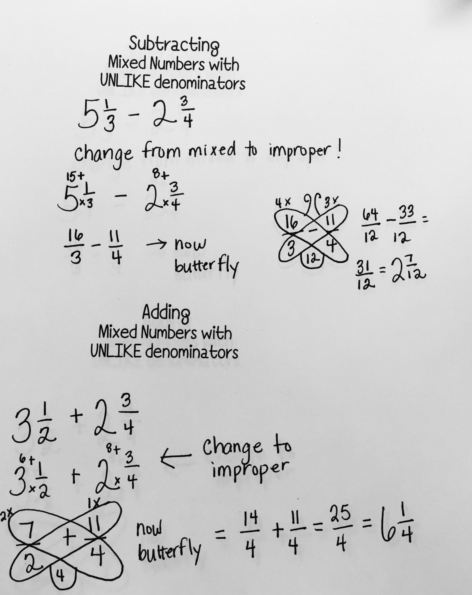 Fractions With Different Denominators Worksheet