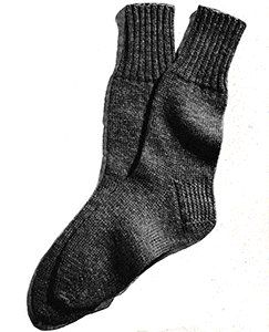 Free Vintage Classic Men's Sock Pattern in 2020   Knitted ...