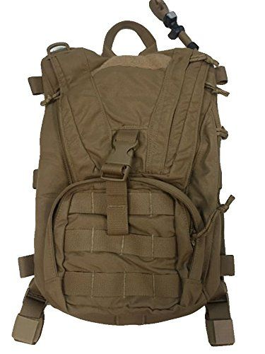 USMC FILBE Molle Hydration System Carrier Pack Coyote Brown GOOD CONDITION