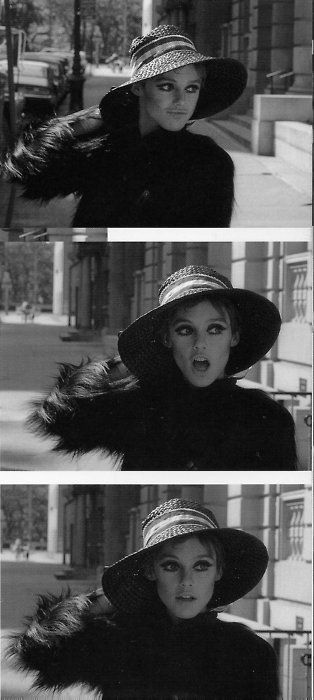 60s Edie Sedgwick // A hat is just as glamorous as huge flashy earrings.