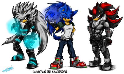 Commission Triple S By Mimy92sonadow Shadow The Hedgehog Sonic And Shadow Sonic Fan Art