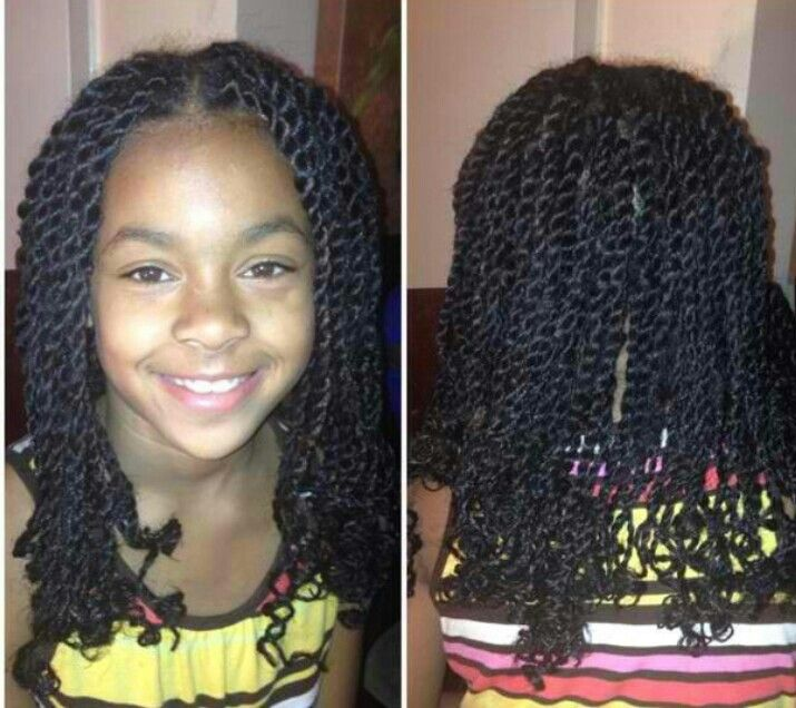 Natural Twists Kids Hair Styles Protective Small Havana