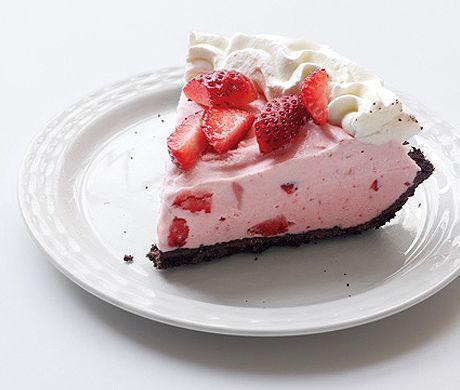 Strawberry-Chocolate Freezer Pie