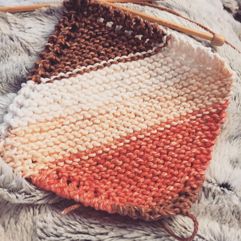 Simple Dishcloth. Knit.   Knitting, Knitting patterns ...