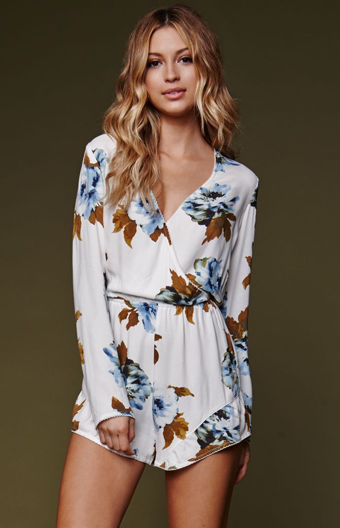 House of Harlow Long Sleeve Ruffle Romper | PacSun