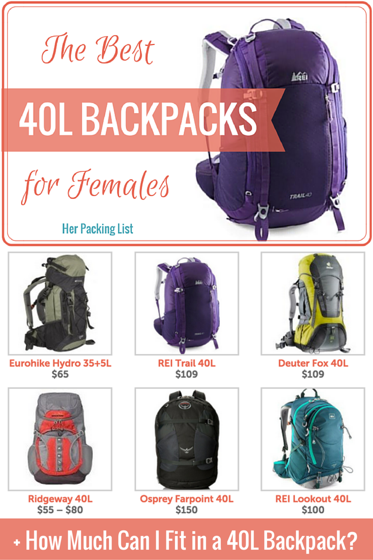The Best 40L Travel Backpacks for Women | For women, Much! and ...