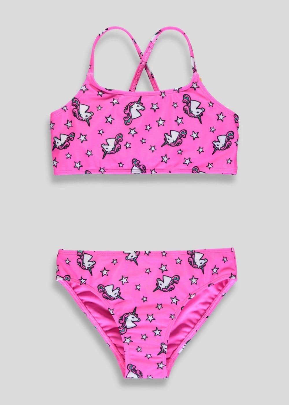 b0c7ca9561 Girls Unicorn Bikini Set (4-13yrs) – Pink | Aubrey | Bikinis, Bikini ...