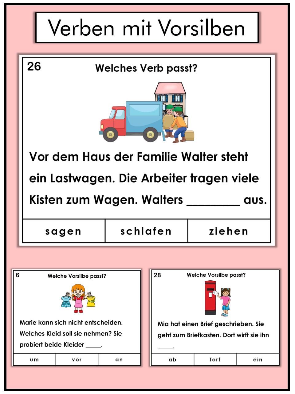 German games plus task cards, verbs with separable prefixes   German ...